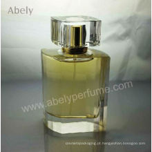Grossista irregular forma perfumes designer com tampa de cristal