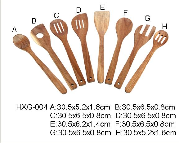 acacia wood utensil set