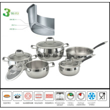 3ply Composite Body Apple Cookware Set