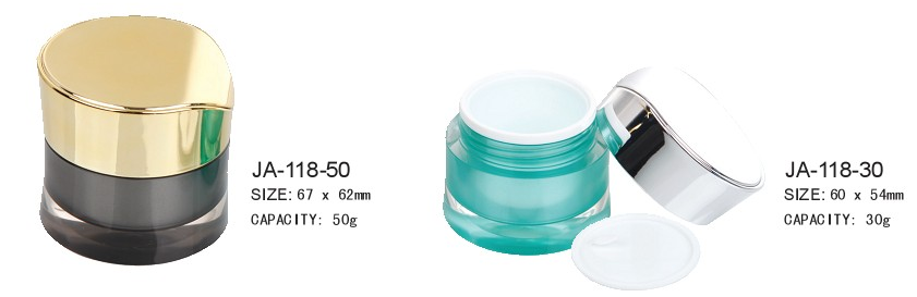 Cometic Packaging Empty Round Acrylic Cosmetic Jar JA-118
