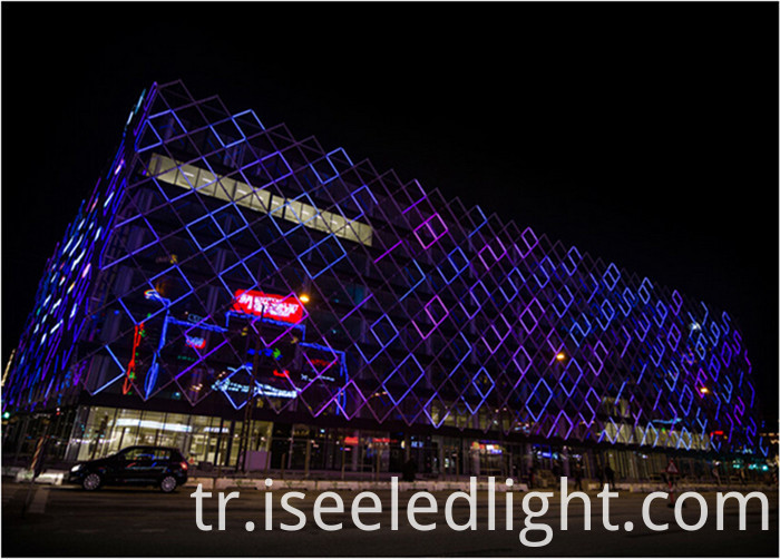 DMX RGB digital tube facade lighting