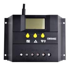 Regulador del panel de la batería del regulador 50A de la carga solar de PWM 50A 48V Función de la luz y del contador de tiempo 2400W del cargador 50A