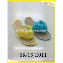 2015 novo estilo com flor Sapatos de chinelo baratos