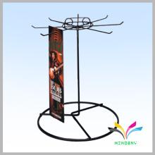Profesional Metal Wire cinturón giratorio mostrador de mostrador para la pantalla