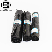 Durable disposable black trash garbage bags
