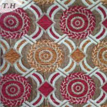 Красный и желтый круговой Жаккард Синели диван ткани (FTH32087)