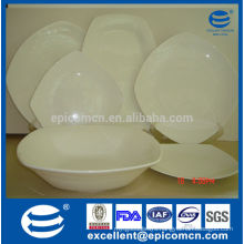 Wholesale White Square bone China Dinner Plates For Kitchen