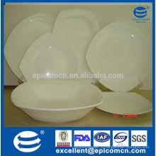 Оптовые белые квадратные кости Китайские обеденные тарелки для кухни