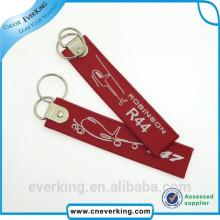 Porte-clés tissé de broderie durable promotionnel pour la promotion