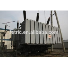 Three phase oil immersed type copper winding wound core low loss 132kV 90mva transformer