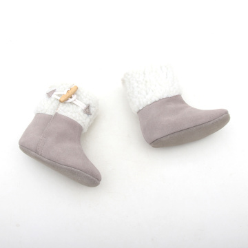 Grijs en wit Winter Warm Booties