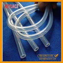 Tubo de borracha de silicone transparente de grau médico