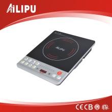 Ailipu Marca Alp-12 2200W cocina de inducción / estufa eléctrica con iluminación azul Venta caliente en Turquía, Siria, Egipto y Emiratos Árabes Unidos