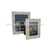 2015 cadre photo nouveau style polyresin photo funia avec coquille rose