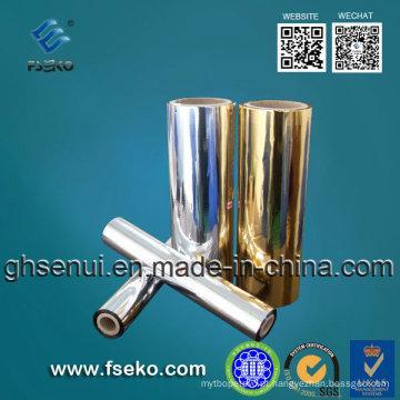 Película de estratificação metalizada 24micron de prata para o pacote da medicina