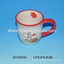 El mono de alta calidad diseñó la taza de cerámica