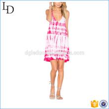 Vestido de vacaciones diseño niña de las flores vestido de playa al por mayor túnica casual