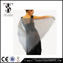 Crochet patrones chales abiertos dama señora acrílico bufanda nuevo estilo