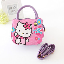 Uma peça linda olá kitty PU Bolsas, Meninas Sacolas Com hortelã / rosa dos desenhos animados bolsas para meninas de uma peça de varejo atacado