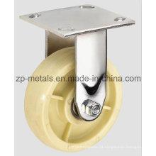 Roda de rodízio fixa de nylon resistente de 4 polegadas
