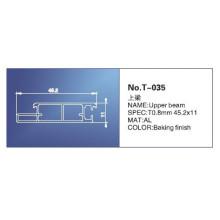 18mm, trilho principal, peças de persianas de rolo, T-035