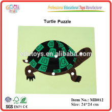Montessori Animal Puzzle - Tortoise