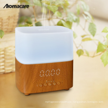 Alibaba China Online Shopping Scent Diffuser Machine Aromatherapy Wood Bluetooth Timer Clock Air Humidifier Free Sample