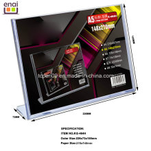Горячий продавать А5 PS Размер дисплея Рекламное и выставочное карты стенд