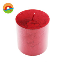 Customized high quality home decoration soy wax pillar candle