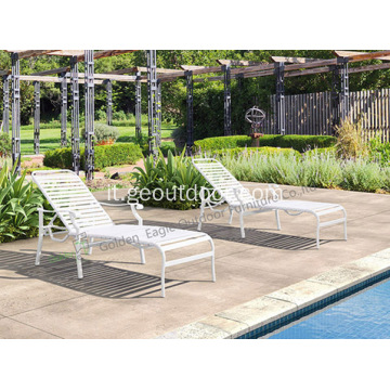 Shore Outdoor Patio Chaise in alluminio
