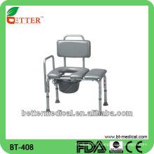 Cadeira de banho com cúpula com assento de PVC