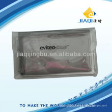 glasses cloth with printing and single plastic etui