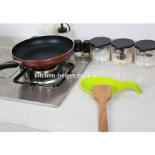 Soporte de cuchara de silicona de alta calidad para cucharas y tenedores