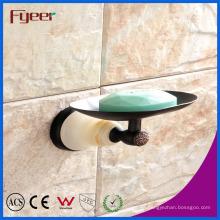 Fyeer Ceramic Base Black Accesorio para baño Latón Jabonera