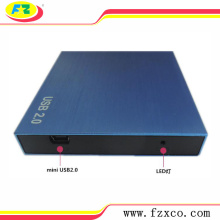 USB2.0 SATA External 2.5 Aluminum HDD Enclosure