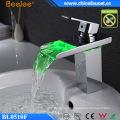 Bathroom LED Light Washbasin Temperature Water Basin Faucet