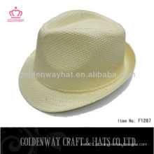 Cheap atacado Yellow Fedora Hat