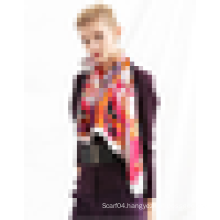 Hot! BAOSHIDI names of scarf womens silk scarf screen printing satin silk scarf