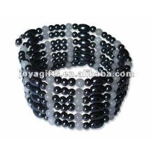 """Magnetic Rose Quartz Beaded Wrap Bracelets & Collier 36 """""""