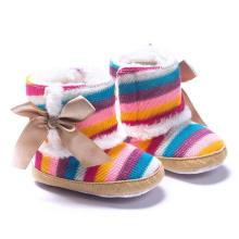 Botas de invierno para bebés Lana de tejer Unisex Soft Sole Baby Shoes