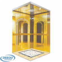 400kg Stainless Steel Glass Residential Indoor Panoramic Elevator
