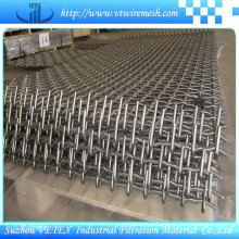 Two-Way Separated Twist Crimped Wire Mesh