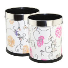 Fashion Leatherette Covered Open Top Waste Bin