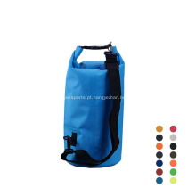 Esportes ao ar livre 500D PVC durável 10L impermeável saco seco transparente
