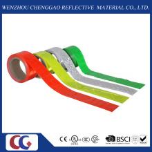 Fita reflexiva de PVC de cor única com treliça de cristal