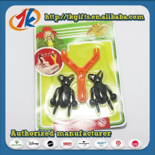 Novelty Funny Sticky Insect with Plastic Catapult Toy