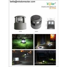 Lámpara de led solar recargable Pilar exterior brillante con CE & Patent(JR-CP46 18pcs LED)