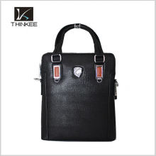 2016 Chinese Manufacturer Made Genuine Cowhide Leather Men Travel Hand Bag
