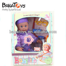 Funny doll can say and sing with doctor set