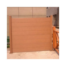 Cheap Price Wood Plastic Composite Fence Board WPC Garden Fence